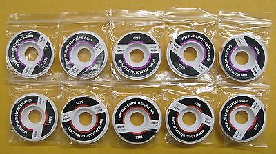 10 Spools of Desoldering Braid (Copper Solder Wick) with flux 1.5m (approx. 5...