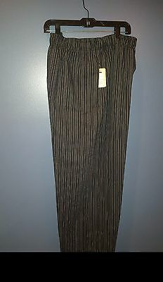Uncommon Threads NEW 3xl Black Chef Pants with white pin stripes