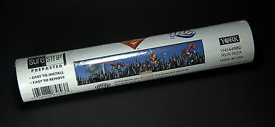 "York Kids Vol.3 Superman SureStrip Prepasted Wallpaper Border YH1449BD 180"" X 9"""