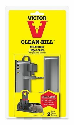 Victor Clean-Kill Mouse Trap (2 Pack) *Reusable*
