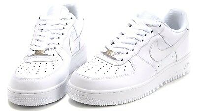 NIKE AIR FORCE 1 One All White 315122-111 Original Shoes Men ... be99ae302