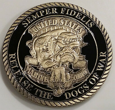 United States Marine Corps Devil Dog Military Challenge Coin (non NYPD)