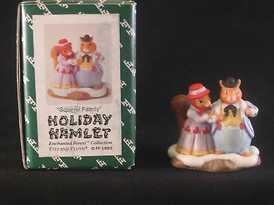 Vintage Fitz And Floyd Squirrel Family Figurine -- Collectible