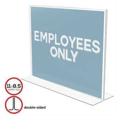 "DEFLECTO 69301 Sign Holder,Plastic,2 Side,11X8.5"",Clear"
