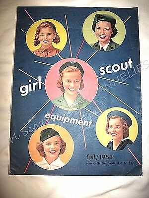 CATALOG, FALL 1953 EUC Girl Scout Uniforms Equipment Jewelry FUN Combine Ship