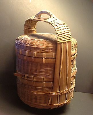Antique Chinese 3Section Wedding Basket