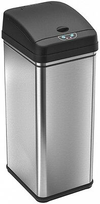 iTouchless 13 Gal. Stainless Steel Motion Sensor Trash Can Deodorizing Filter
