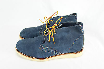 Red Wing Shoes New Men's Blue Suede Leather Chukka Boots Round Toe Shoes sz 10.5