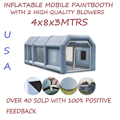 Portable Inflatable Paint Booth From USA 4x8x3 Meters SHIPS FAST FROM USA