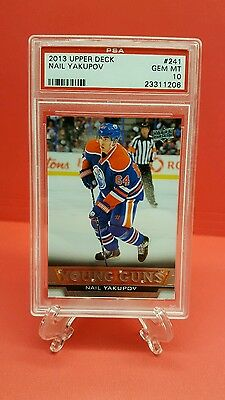 13-14 UD UPPER DECK NAIL YAKUPOV YOUNG GUNS RC PSA 10- Edmonton Oilers