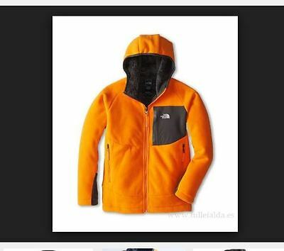 New The Boys North Face Chimborazo Hoodie Jacket NWT Size Small S 7/8 Orange