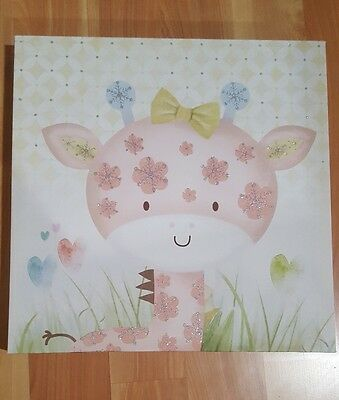 Baby girl  room canvas  wall art