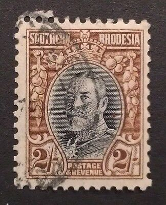 Southern Rhodesia 1931 2s 2 two shillings  line perf 12  black brown SG25  SG 25