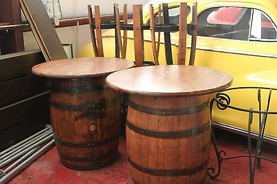 Jack Daniels furniture barrel table with chairs with distillery autograph