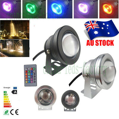 Waterproof 10W 12V RGB LED Underwater Spot Lights Aquarium Pond Pool Fountain