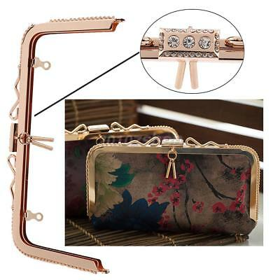 DIY Clasp Purse Handles Bag Frame Party Light Gold Handbag Making Supplies