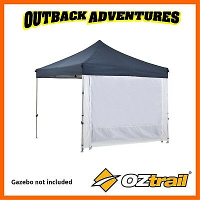2 x OZTRAIL DELUXE GAZEBO 2 ZIP SOLID WALL WITH DOOR FOR 3X3 3X6 (MPGW-30SD-C)