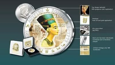 Egypt  SERIES silver Proof coin NEFERTITI Egyptian Queen,ONLY 999 MINTED,RARE
