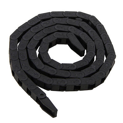 Black CNC Machine Part Tool 7*7mm Plastic Nylon Cable Carrier Drag Chain Nested