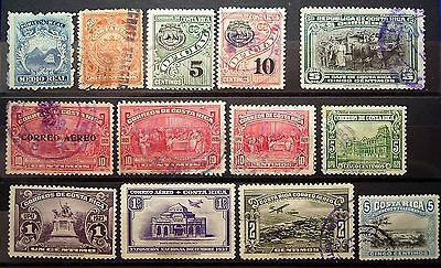 Costa Rica 13 Older Stamp Selection ,... Add To Your Central America Collection