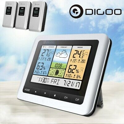 Digoo COLOR LCD Wireless Weather Station Temperature Humidity Barometer & Sensor