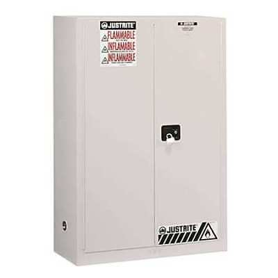JUSTRITE 896005 Flammable Safety Cabinet,60 Gal.,White G9813413