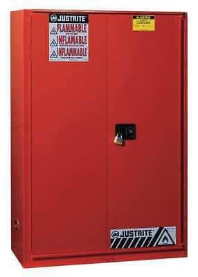JUSTRITE 894591 Flammable Cabinet,60 Gal.,Red G9960027