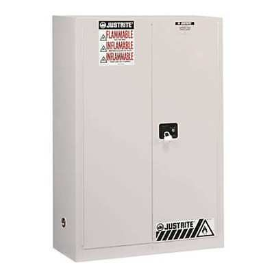 JUSTRITE 894525 Flammable Safety Cabinet,45 Gal.,White G9813386