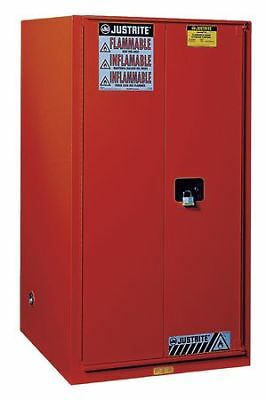 JUSTRITE 896001 Paints and Inks Cabinet, 60 gal., Red