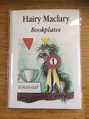 "12 pack of self-adhesive BOOKPLATES ""Hairy Maclary"" for kids' books 13cm long"