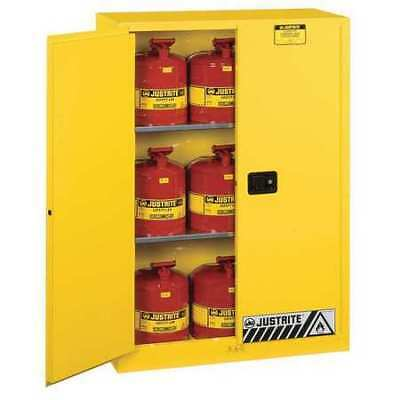 JUSTRITE 8945008 Flammable Safety Cabinet, 45 gal., Yellow