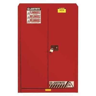 Flammable Cabinet,96 Gal.,Red JUSTRITE 896091