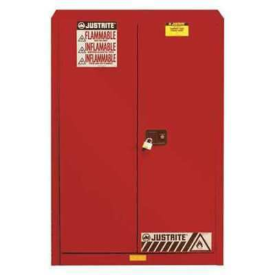 JUSTRITE 896091 Flammable Cabinet,96 Gal.,Red G9959993