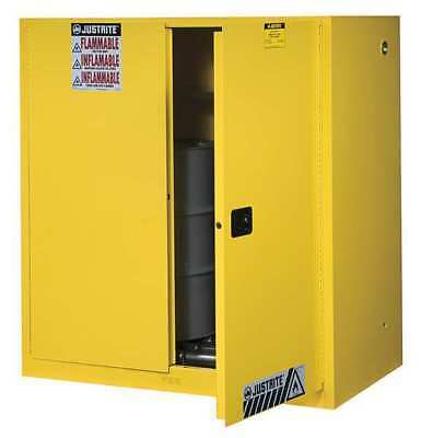 JUSTRITE 899070 Flammable Cabinet,Vertical,2X30 Gal.,YLW G9832051