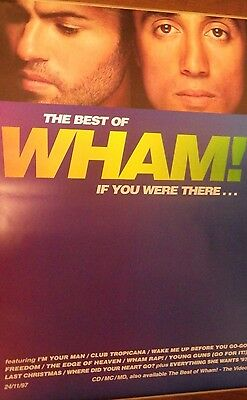 "40x60"" HUGE SUBWAY POSTER~WHAM! Best of If You Were There 1997 George Michael~"