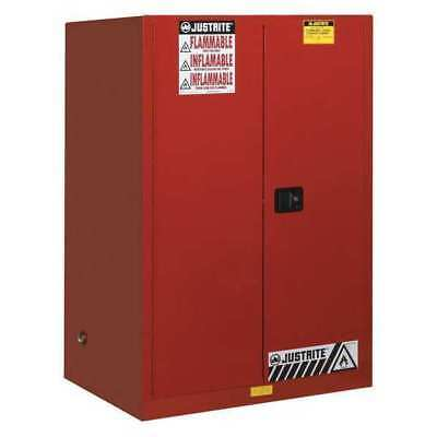 JUSTRITE 899161 Flammable Cabinet,Vertical,2X55 Gal.,Red G9832024