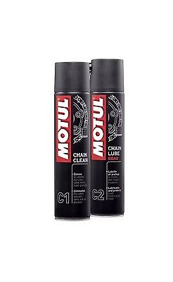 KIT - Motul Spray Catena C2 + pulitore Catena C1 ( 400 ML )