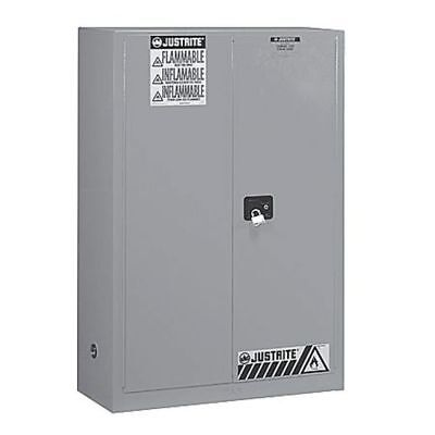 JUSTRITE 896023 Flammable Safety Cabinet,60 Gal.,Gray G9813377
