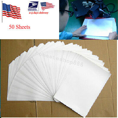 50 Sheets A4 Inkjet Heat Iron On Transfer Paper for Light Color Fabrics US Ship