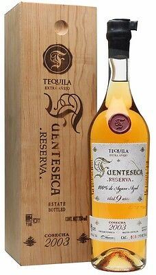 Tequila Fuenteseca Reserva 2003, Extra Anejo, 9yo 100% Blue Agave, 750mL, Select