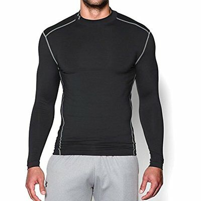 $50 Under Armour Men's ColdGear Armour Compression Mock, Black/Steel, Small