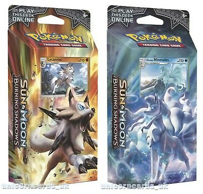 Pokemon TCG: Sun & Moon: Burning Shadows Theme Decks x2 :: Lycanroc + Alolan Nin