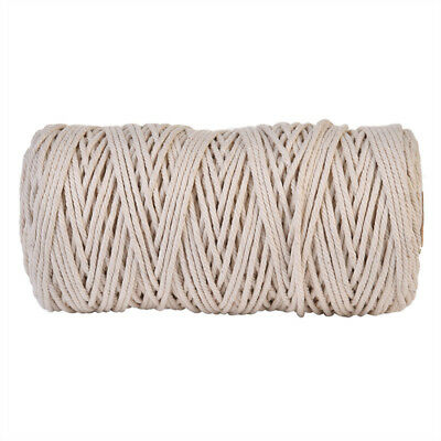 200M Natural Cotton Cord 3mm String Craft DIY teething jewellery baby wax