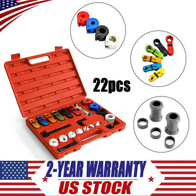 22PC Deluxe A/C Fuel Transmission Line Disconnect Tool Set KIT for Ford GM 1 set