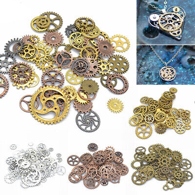 100g Pieces Lots Vintage Steampunk Wrist Watch Parts Gears Wheels Steam Punk DIY