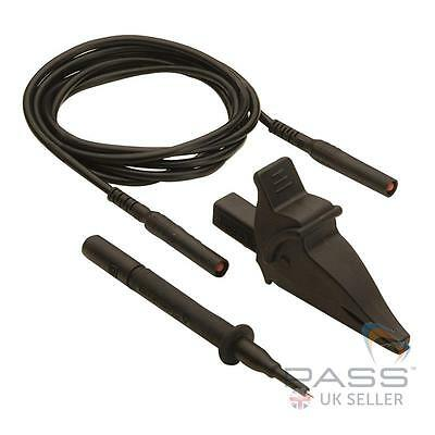 Megger PAT tester Continuity / Earth Bond lead + Probe (Black)  SKU: 2000-870