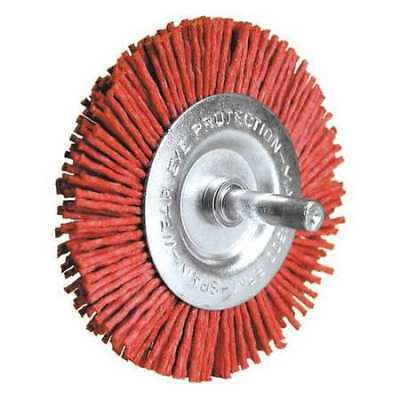 CENTURY DRILL AND TOOL 77441 Radial Brush,Nylon Coarse,80 Grit,4 in.