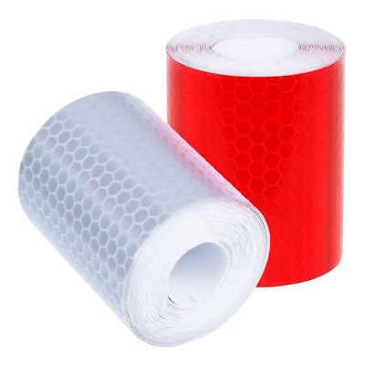 2 pcs 50mm × 3 meter Adhesive Tape Warning Tape Reflector Tape Security Ma V8W0