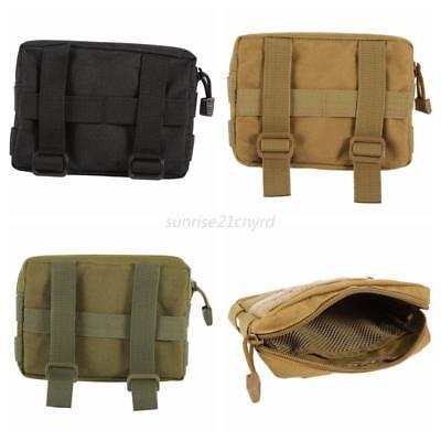Mens Multifunctional Portable Outdoor Military Tactical Belt Waist Bag Pouch AU