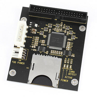 SD SDHC SDXC MMC Card to IDE 40Pin 3.5inch Male Adapter B2J2